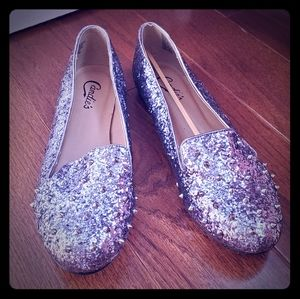 Candies Sequin Rocker Flats sz 9M